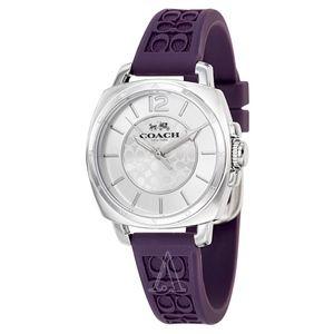 COACH Signature Mini Boyfriend Purple Watch
